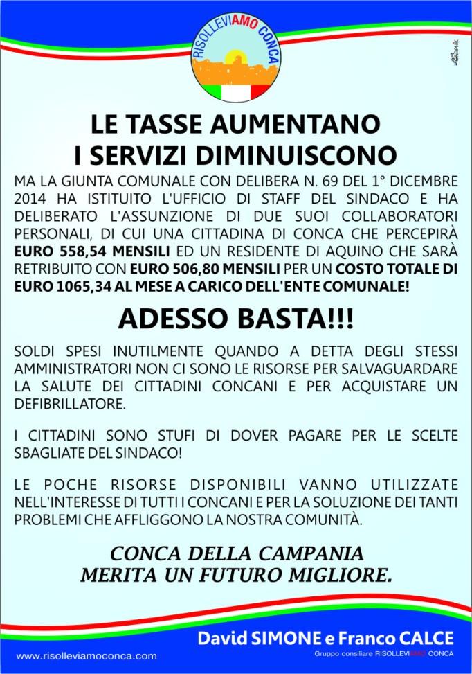 MANIFESTO RISOLLEVIAMO CONCA - 21 DICEMBRE 2014