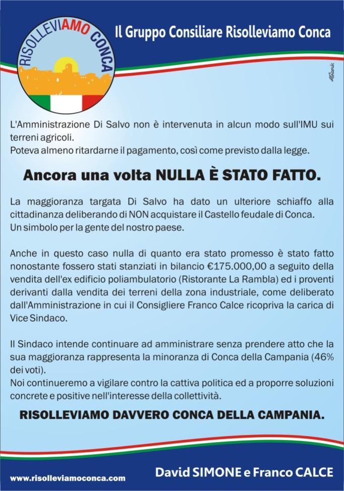 Risolleviamo davvero Conca della Campania