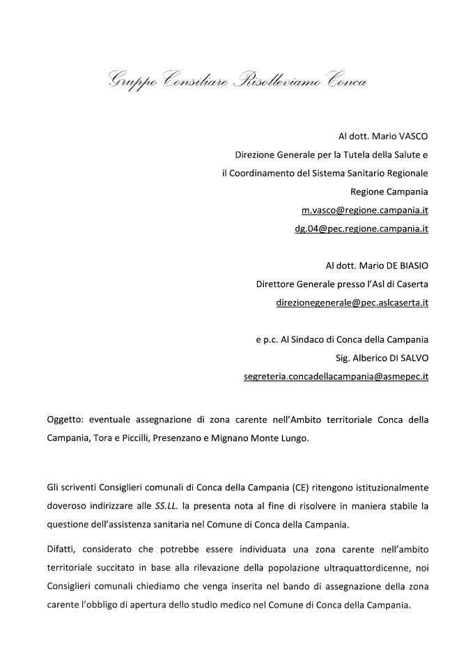 Nota dei Conss. Simone e Calce relativa al medico di base 29.07.2016_Pagina_1
